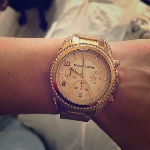 Rose gold Michael kors watch **AUTHENTIC**